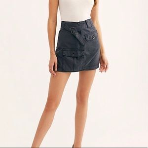 LAST CHANCE Free People Erika Utility mini skirt